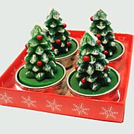 chape vela de Navidad árbol de Navidad linda de 4 piezas
