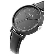 Недорогие Фирменные часы-KEZZI Жен. Наручные часы Модные часы Повседневные часы Кварцевый Повседневные часы Кожа Группа Кулоны Cool минималист Черный Белый Синий