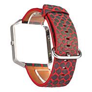 Недорогие Аксессуары для смарт-часов-Красный / Синий / серый Кожа Спортивный ремешок Для Fitbit Смотреть 23мм