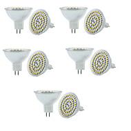 お買い得  LED スポットライト-10個 3W 280lm GU5.3(MR16) LEDスポットライト MR16 60 LEDビーズ SMD 3528 調光可能 装飾用 温白色 クールホワイト 12V