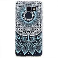 Для samsung galaxy a310 a510 синий кружевной узор tpu высокой чистоты полупрозрачный ажурный мягкий чехол для телефона
