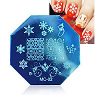 1 stuks kerst thema image nail art stempel template plaat geboren vrij nagel stempelen platen