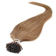 お買い得  -Febay フュージョン/Iチップ 人間の髪の拡張機能 ストレート 人毛
