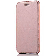 Недорогие Кейсы для iPhone-Кейс для Назначение Apple iPhone X iPhone 8 Кейс для iPhone 5 iPhone 6 iPhone 7 Бумажник для карт Флип Чехол Сплошной цвет Твердый Кожа PU
