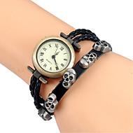 tanie Modne zegarki-Damskie Modny Zegarek na nadgarstek Zegarek na bransoletce Kwarcowy Kolorowy Skóra PasmoPostarzane Kreskówka Lebky Artystyczny