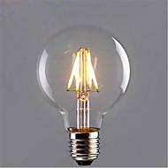billige LED-kultrådslamper-1pc 6W 420 lm E26/E27 LED-glødetrådspærer G95 6 leds COB Dekorativ Varm hvid Gul AC 85-265V