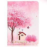 Для Кошелек / Бумажник для карт / со стендом / С узором Кейс для Чехол Кейс для дерево Твердый Искусственная кожа SamsungTab E 9.6 / Tab