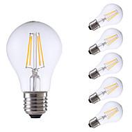 お買い得  -GMY® 6本 4 W 550/400 lm E26 / E27 フィラメントタイプLED電球 A60(A19) 4 LEDビーズ COB 調光可能 温白色 / クールホワイト 220-240 V / 6個 / RoHs