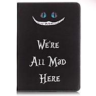 Недорогие Чехлы и кейсы для Galaxy Tab A 9.7-Для Бумажник для карт / Кошелек / со стендом / С узором Кейс для Чехол Кейс для Слова / выражения Твердый Искусственная кожа SamsungTab E