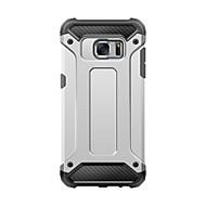 Недорогие Чехлы и кейсы для Galaxy S7-Кейс для Назначение SSamsung Galaxy Samsung Galaxy S7 Edge Защита от удара Кейс на заднюю панель броня ПК для S8 Plus S8 S7 edge S7 S6