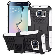 voordelige Galaxy S4 Hoesjes / covers-voor de Samsung Galaxy S7 rand geval band hybride tpu pc harde schokbestendige stand trap deksel galaxy s6 S5 S4 mini edge plus