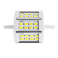 halpa LED-valoputket-450lm R7S LED-valonheittimet Tuubi 24 LED-helmet SMD 5730 Koristeltu Lämmin valkoinen Kylmä valkoinen 85-265V 220-240V