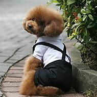 Hund Kostume Smoking Hundeklær Cosplay Bryllup Fargeblokk Svart/Hvit Kostume For kjæledyr