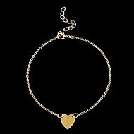 baratos -Mulheres Tornezeleira / Pulseiras Liga Amor Europeu Tornezeleira Coração Jóias Para Festa Diário Casual