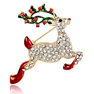 cheap Christmas Jewelry-Women's Brooches - Fashion Brooch Jewelry Red For Party / Daily / Casual