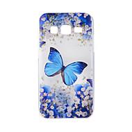 Для samsung galaxy j7 j5 чехол для корпуса синий бабочка окрашенный узор tpu материал телефон чехол