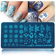cheap Nails & Hair-1pcs Nail Stamping Image Template Plates Stamper Scraper