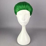 Kvinder Syntetiske parykker Lokkløs Kort Rett Grønn Cosplay-parykk Halloween parykk Karneval Parykk costume Parykker
