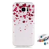 tok Για Samsung Galaxy S7 edge S7 IMD Διαφανής Με σχέδια Πίσω Κάλυμμα Λουλούδι Μαλακή TPU για S7 edge S7 S6 edge S6 S5 Mini S5
