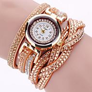 Dames Armbandhorloge Modieus horloge Polshorloge Kwarts imitatie Diamond Punk Kleurrijk PU Band Amulet Glitter Vintage Informeel