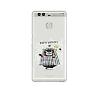 Для С узором Кейс для Задняя крышка Кейс для Мультяшная тематика Мягкий TPU для HuaweiHuawei P9 / Huawei P9 Lite / Huawei P9 Plus /