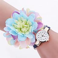 Xu™ Dame Moteklokke Armbåndsur Quartz PU Band Vintage Blomst Vedhend Armband Fritid Svart Hvit Blå Rød