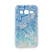 Για το Samsung Galaxy J7 j5 περίπτωση κάλυψης μπλε και άσπρο ζωγραφισμένο πρότυπο tpu υλικό θήκη τηλέφωνο
