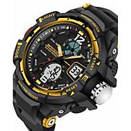 Недорогие Фирменные часы-SANDA Муж. Спортивные часы Смарт Часы Наручные часы Цифровой Японский кварц 30 m Защита от влаги Будильник Секундомер силиконовый Группа Аналого-цифровые Роскошь На каждый день Мода Черный -  / LED