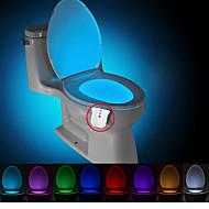 brelong 1 szt. aktualizacja wodoodporna 8-kolorowy czujnik ruchu ludzkiego ciała pir nocna lampka nocna