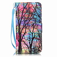 voordelige iPod accessoires-color tree painting pu phone case voor apple itouch 5 6 ipod cases / covers