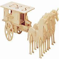 Træpuslespil Legetøjsbiler Legetøj Hestevogn Berømt bygning Hest Professionelt niveau Drenge Pige 1 Stk.