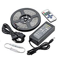 Z® αδιάβροχο 5m 72w 300smd 5730 οδήγησε λουρίδα φως 11key τηλεχειριστήριο κιτ 6α τροφοδοσία ac110-240v