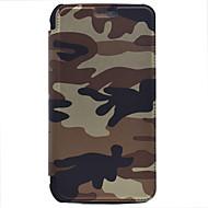 Voor Portemonnee / Kaarthouder hoesje Volledige behuizing hoesje Camouflage Kleur Hard PU-leer voor SamsungOn7(2016) / J7 (2016) / J7 /