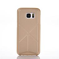 Недорогие Чехлы и кейсы для Galaxy S6 Edge Plus-Кейс для Назначение SSamsung Galaxy S7 edge S7 со стендом Кейс на заднюю панель Сплошной цвет Твердый ПК для S7 edge S7 S6 edge plus S6