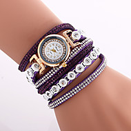 voordelige Bohémien horloges-Dames Modieus horloge Polshorloge Armbandhorloge Kwarts imitatie Diamond Kleurrijk PU BandVintage Bohémien Bedeltjes Bangle armband Cool