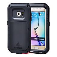 Varten Samsung Galaxy kotelo Vesi / Dirt / Shock Proof Etui Kokonaan peittävä Etui Panssari Metalli Samsung S6 edge