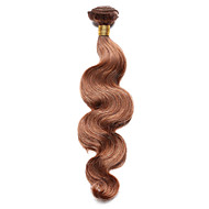 Недорогие Накладки и пряди-Индийские волосы Естественные кудри Ткет человеческих волос 1 шт. 0.1