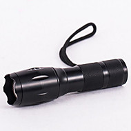 cheap Flashlights, Lanterns & Lights-LED Flashlights / Torch LED 800 lm 3 Mode LED with Battery and Charger Zoomable Adjustable Focus Waterproof Compact Size Super Light
