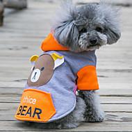 preiswerte -Hund Kapuzenshirts Hundekleidung Niedlich Lässig/Alltäglich Bär Orange Rot Grün Rosa Kostüm Für Haustiere