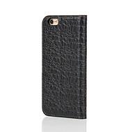 Для Кошелек / Бумажник для карт / со стендом / Флип Кейс для Чехол Кейс для Один цвет Твердый Натуральная кожа для AppleiPhone 7 Plus /