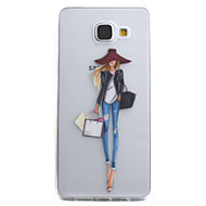 voordelige Hoesjes / covers voor Samsung-hoesje Voor Samsung Galaxy A5(2016) A3(2016) Transparant Patroon Achterkantje Sexy dame Zacht TPU voor A5(2016) A3(2016)