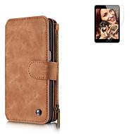 Для Кошелек / Бумажник для карт / со стендом / Флип Кейс для Чехол Кейс для Один цвет Твердый Натуральная кожа для SamsungS7 edge / S7 /
