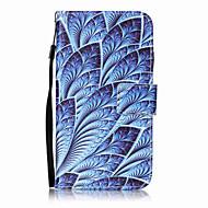 Lg k10 k8 kotelon kansi sininen kukka kuvio maalauskortti stent PU nahkaa k7 ls770 ls775 v20