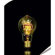 abordables Bombillas Incandescentes-1pc 40 W E26 / E27 A60(A19) Blanco Cálido 2300 k Retro / Decorativa Bombilla incandescente Vintage Edison 220-240 V / 110-130 V