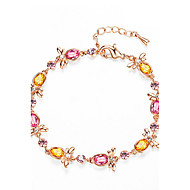 billige -Dame Kæde & Lænkearmbånd Krystal Mode Personaliseret Legering Smykker Smykker Til Bryllup Fest Fødselsdag Daglig Afslappet