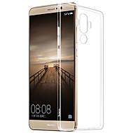 お買い得  携帯電話ケース-ケース 用途 Huawei社P9 Huawei社メイトS Huawei社P9ライト Huawei社P8 Huawei Huawei社P9プラス Huawei社P8ライト Huawei社メイト8 Huawei社メイト7 クリア バックカバー 純色 ソフト TPU のために