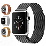 abordables Déstockage-Bracelet de Montre  pour Apple Watch Series 3 / 2 / 1 Apple Bracelet Milanais Acier Inoxydable Sangle de Poignet