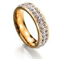 billige -Ringe Bryllup / Party Smykker Titanium Stål Dame Ring 1pc,En størrelse Gylden