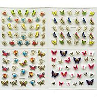 24 Nail Art matrica 3D-s körömmatricák smink Kozmetika Nail Art Design