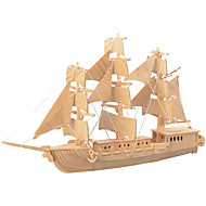 cheap Toys & Hobbies-Wooden Puzzles Toys Fighter Ship Professional Level Wood Boys' Girls' 1 Pieces
